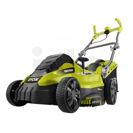 RYOBI RLM15E36H 1500W Elektrická sekačka na trávu, šířka záběru 36cm 5133002345
