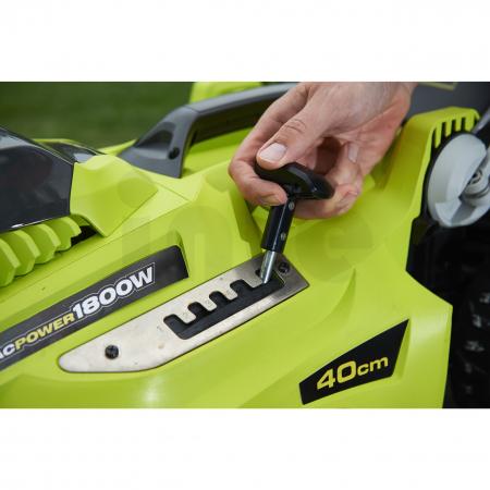 RYOBI RLM18E40H 1800W Elektrická sekačka na trávu, šířka záběru 40cm 5133002347
