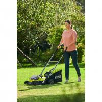 RYOBI RY18LMH37A 18V Akumulátorová hybridní sekačka na trávu, šířka záběru 37cm (2x2.5Ah) 5133004671