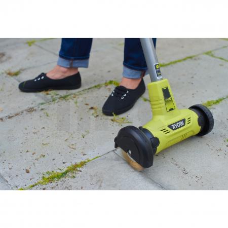 RYOBI RY18PCA 18V Akumulátorový patio čistič s drátěným kartáčem (1x2.0Ah) 5133004728