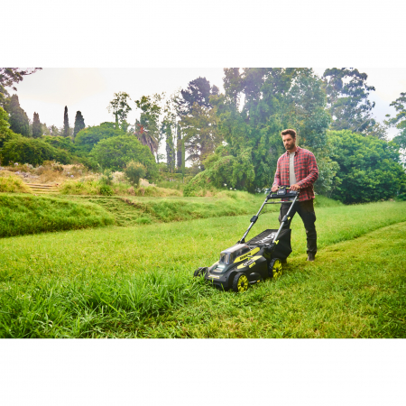 RYOBI RY36LMX51A 36V Bezuhlíková akumulátorová sekačka na trávu, šířka záběru 49cm (1x4.0Ah) 5133004645